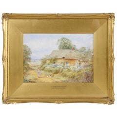 Sylvester Stannard, Water Color 'A Bedfordshire Cottage'
