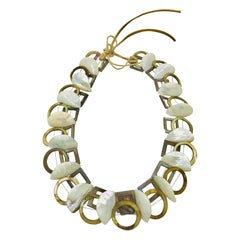 Sylvia Gottwald, 3D Mother of Pearl Statement Necklace with Shells