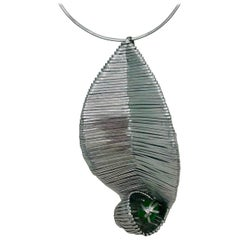 Sylvia Gottwald, Emerald Pendant on a Choker Necklace.