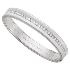"""Q"" Bracelet, 18 Karat White Gold and Diamond, Q9W"