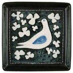 Sylvia Leuchovius for Rörstrand, Square Dish in Glazed Ceramics, 1960s-1970s