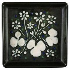 Sylvia Leuchovius for Rörstrand, Square Dish in Glazed Ceramics