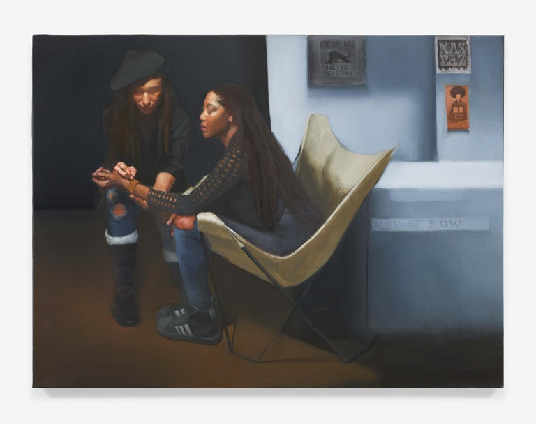 Sylvia Maier Figurative Painting - Activist Row/Reclaiming Her Time