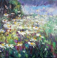 Daisy Meadow original Landscape painting