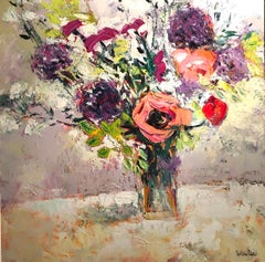 First Summer Flowers - original still life floral oil painting Contemporary Art