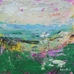 Fresh Breeze - Textured Abstract Landscape Oil Painting Contemporary Modern Art