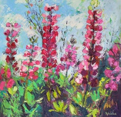 Lupins original abstract Landscape painting