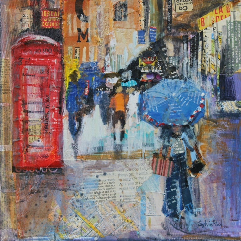 Sylvia Paul Rainy London Abstract City Landscape Painting