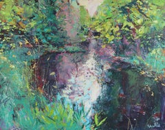 Spring Light on the River-original abstract landscape painting Contemporary Art