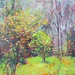 Spring Sparkle - original landscape oil painting Contemporary Art 21st century