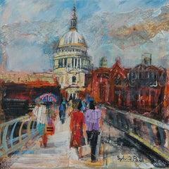 St Paul's London London abstract city Landscape painting