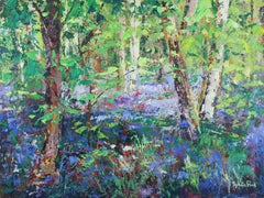 Sunlight and Shade at Bluebell original Landscape painting Contemporary Art