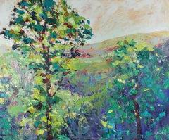 Welsh Valley - original landscape oil painting Contemporary Art 21st c nature