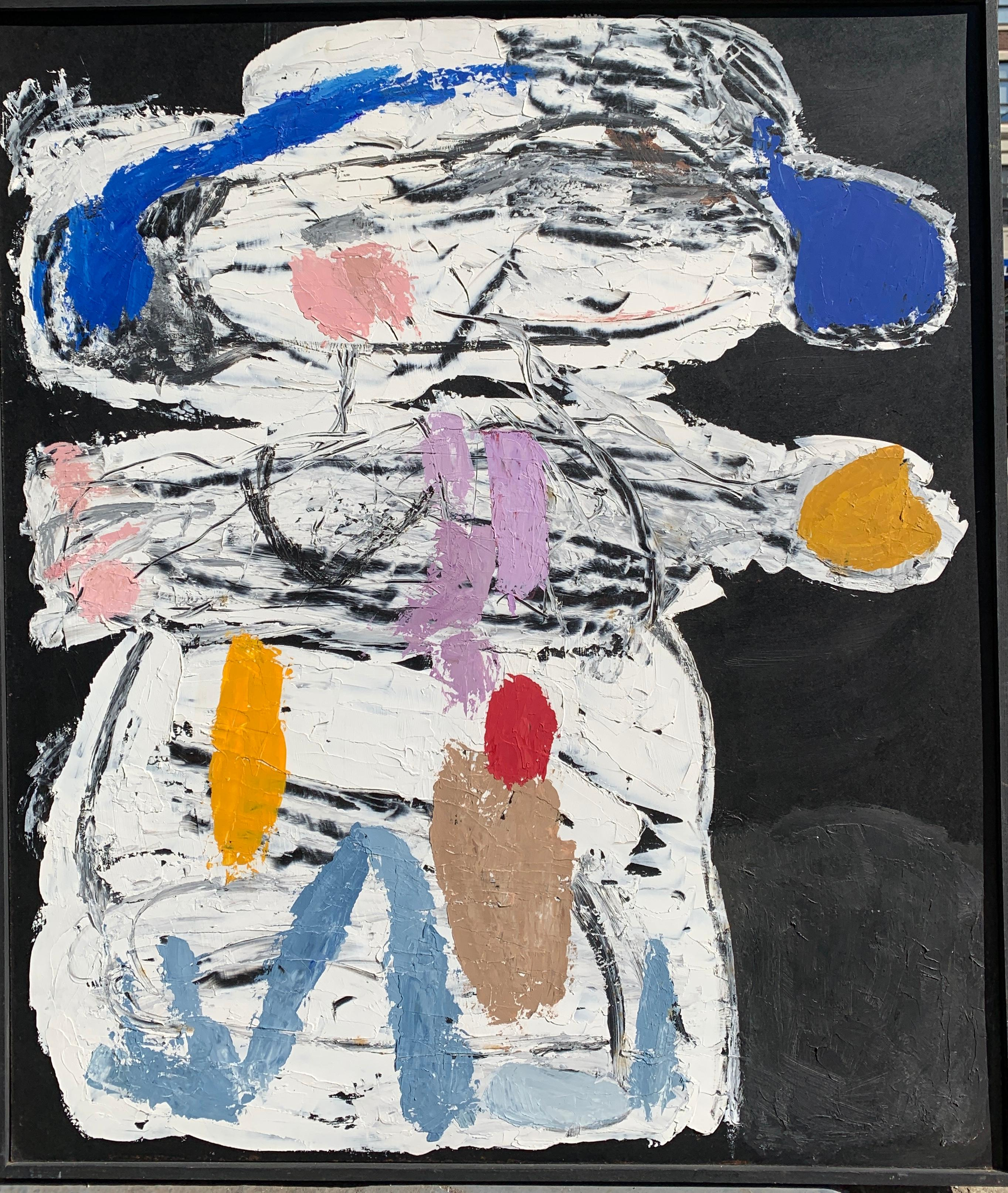"""1950s """"Boy With Mittens"""" Oil Impasto Figurative Painting Brooklyn Museum Artist"""