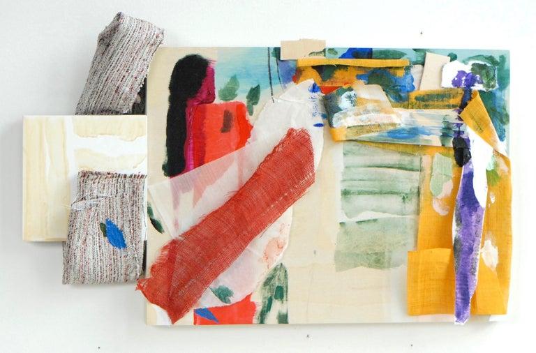 "Sylvia Schwartz 9, 2018, wood, fabric, paint. 10' x 16"" x 2"" - Painting by Sylvia Schwartz"