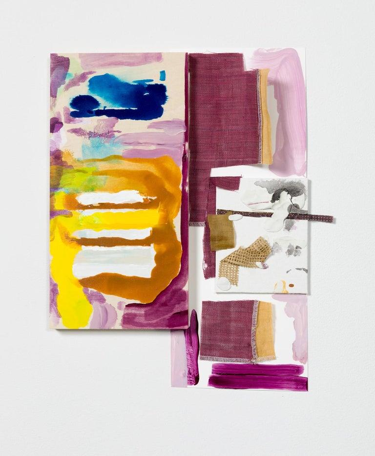 "Sylvia Schwartz_1, 2018, wood, fabric, paint, 15""  x 11"" x 1"" - Painting by Sylvia Schwartz"
