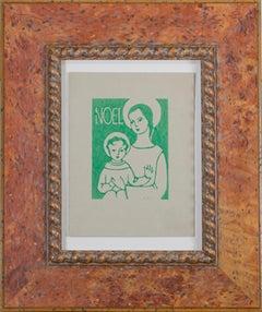 """Noel,"" Relief Print signed by Sylviz Spicuzza"