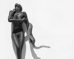 Snake woman, 21st century, contemporary, photography