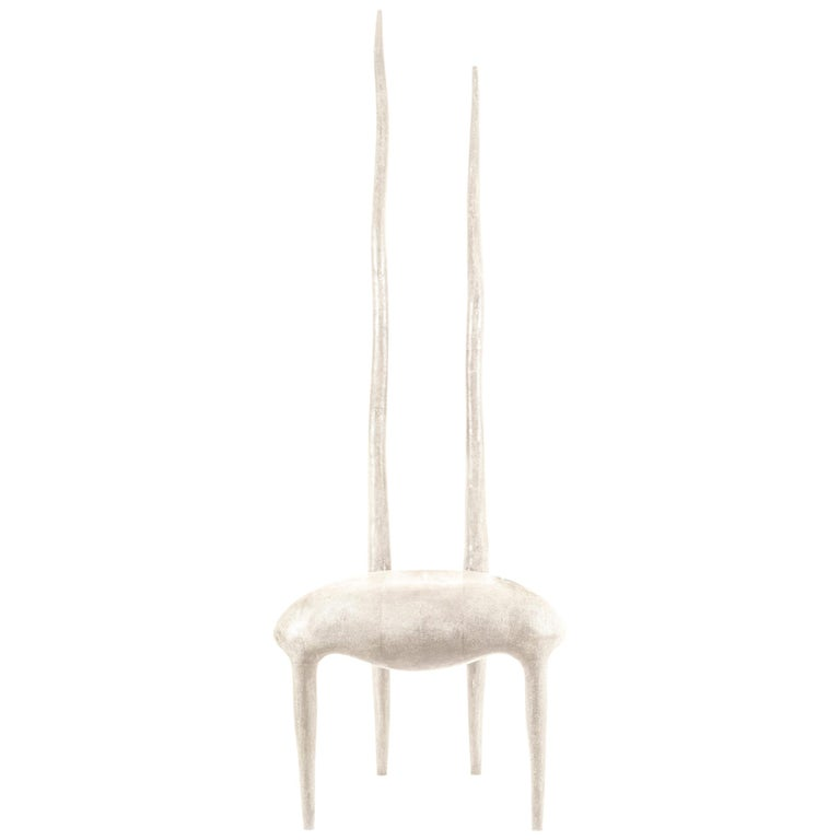 Sylvie Chair in Cream Shagreen by R & Y Augousti For Sale