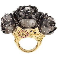 Sylvie Corbelin One of a Kind Three Rose Flowers Ring