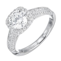 Sylvie GIA Certified 1.14 Carat Diamond Engagement Ring