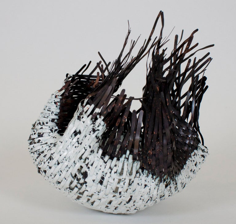 American Sylvie Lissa Alusitz Enameled Copper Reservoir Basket, 2019 For Sale