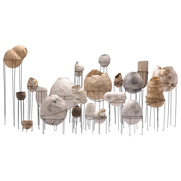 Sylvie Lissa Alusitz Paper Vessels with Stands, 2018 For Sale