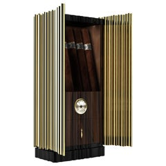 Symphony Cigar Humidor with Gold Plated Brass Detail