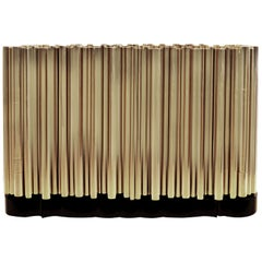 Symphony Four-Door Sideboard in Gold-Plated Brass Tubes by Boca do Lobo