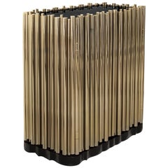 Symphony Sideboard 2-Door in Gold Plated Brass Tubes