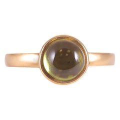 Syna 18 Karat Yellow Gold Peridot Ring