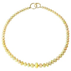 Syna Ethiopian Opal Yellow Gold Bead Necklace