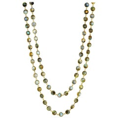 Syna Labradorite Yellow Gold Chakra Necklace