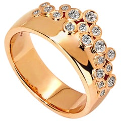 Syna Rose Gold Band with Champagne Diamonds