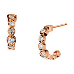 Syna Rose Gold Earrings with Champagne Diamonds