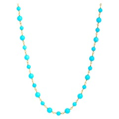 Syna Sleeping Beauty Turquoise Yellow Gold Necklace