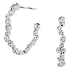 Syna White Gold Earrings with Champagne Diamonds