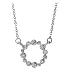 Syna White Gold Necklace with Champagne Diamonds