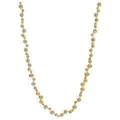 Syna Yellow Gold and Champagne Diamond Necklace