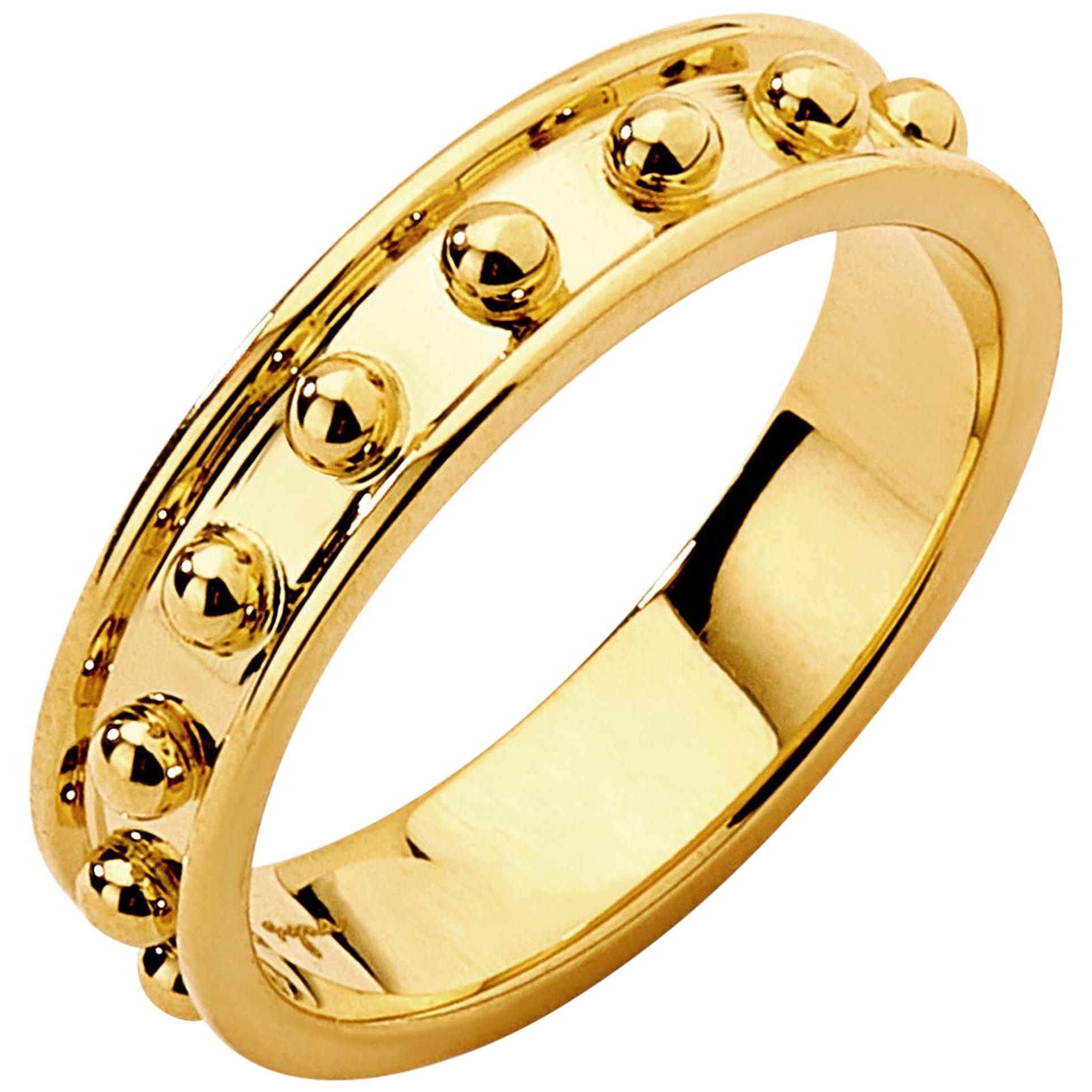 Syna Yellow Gold Band
