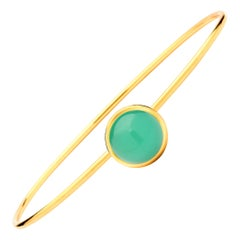 Syna Yellow Gold Big Chrysoprase Baubles Bracelet