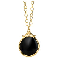 Syna Yellow Gold Black Spinel Chakra Pendant