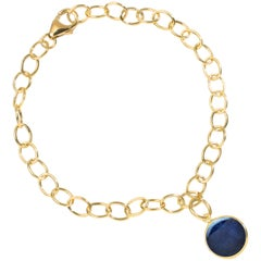 Syna Yellow Gold Bracelet with Blue Sapphire