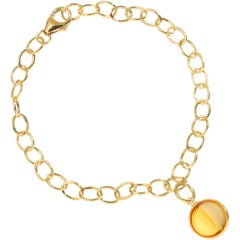 Syna Yellow Gold Bracelet with Citrine