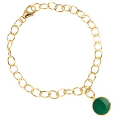 Syna Yellow Gold Bracelet with Emerald