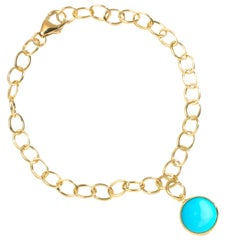 Syna Yellow Gold Bracelet with Sleeping Beauty Turquoise