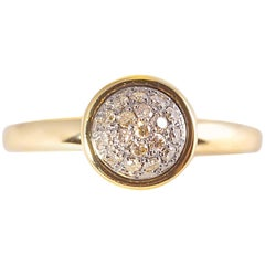 Syna Yellow Gold Brown Diamond Ring