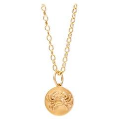 Syna Yellow Gold Cancer Zodiac Pendant