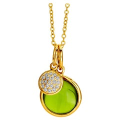Syna Yellow Gold Chakra Necklace with Peridot and Champagne Diamonds