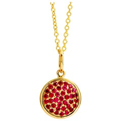 Syna Yellow Gold Chakra Pendant with Rubies